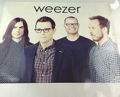 "Weezer Everything Will Be Alright * 2 Sided Promo Poster 18"" x 24"" rare limited"