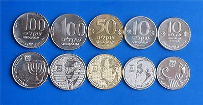 Israel Special Issue Complete Old Sheqel Sheqalim 5 Coin Set UNC