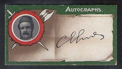 Taddy-Autographs-#24- General Charles George Gordon - Quality Card!!!