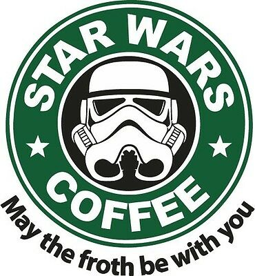 Star Wars May The Froth Be With You Decal Sticker