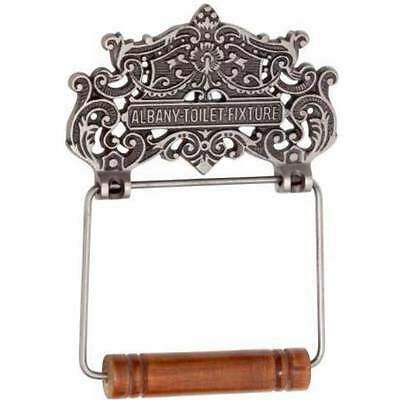 "Toilet Roll Holder ""Albany"" - Cast Iron - Polished Metal - HDLTH4890"