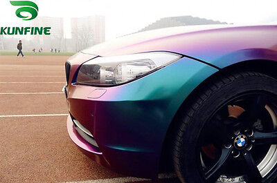 Chameleon glossy Vinyl Wrap Film Air free bubble car Sticker Purple/blue1.52x30m