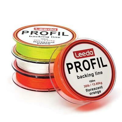 LEEDA PROFIL 100M 20lb 0R 30lb FLY LINE BACKING  TROUT SALMON FISHING