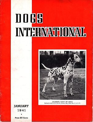 Vintage Dogs International Magazine January 1941 Dalmatian Cover