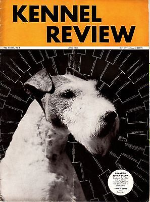 Vintage Kennel Review Dog Magazine June 1935 Fox Terrier Cover