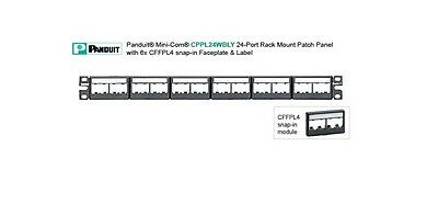 PANDUIT - CPPL24WBLY - 24-Port Patch Panel