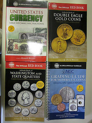 Red books< 4 Different> Quarters-NGC Grading-U S  Currency 3rd Ed-:Double Eagles