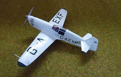 "1/3 Scale PERCIVAL MEW GULL scratch build R/c Plane Plans & Patterns 85""WS"