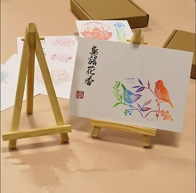 10pcs Mini Wooden Art Holder Artwork Display Table-Top Easels Drawing Boards 6L