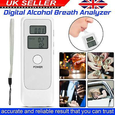 Alcohol Tester Professional Police Digital LCD Alcotester Breath Breathalyzer UK