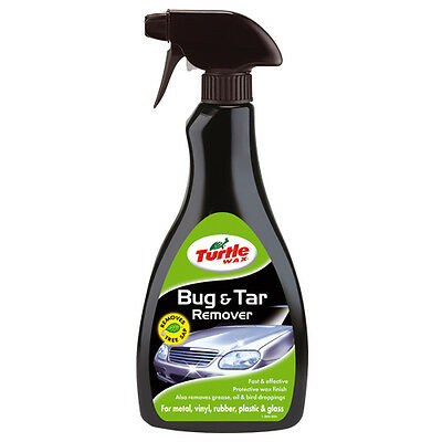 Turtle Wax Bug & Tar Stain Remover 500ml For Metal Vinyl Rubber Plastic & Glass