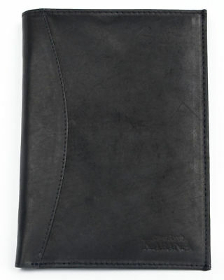 Black genuine leather passport holder Kabana. Fast worldwide shipping.