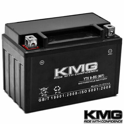 12V Battery KMG Motorcycle Scooter ATV Snowmobile Mowers PWC Watercraft YTX9-BS