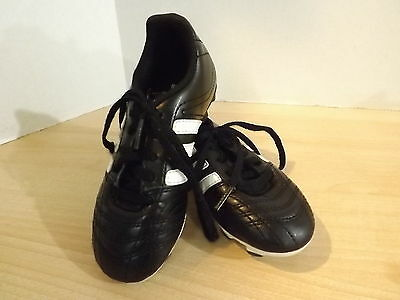 Soccer Shoes Cleats Childrens Size 12 USA Adidas Black White