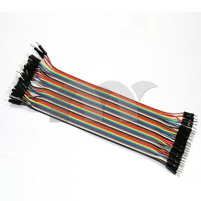 40 Pin 20cm Dupont Wire Connector Cable 2.54mm Male to Male 1P-1P For Arduino