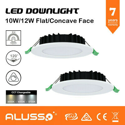 10W,12W Dimmable LED Downlight Kit Warm/Natural/Cool White 70mm/90mm Cutout IP44