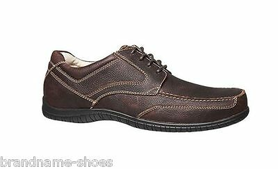 Mens Hush Puppies Intrigue Brown Men's Leather Lace Up Work Dress Formal Shoes