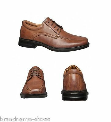Mens Hush Puppies Rochester Extra Wide Men'S Leather Work Brown Formal Shoes