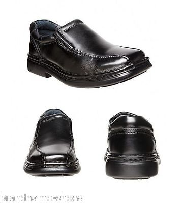ab7c55be170 MENS HUSH PUPPIES Lexicon Extra Wide Men S Black Leather Work Slip On Shoes  -  94.99