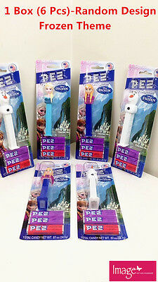 6 x Frozen Theme PEZ Candy & PEZ Dispenser Kids Party Gift