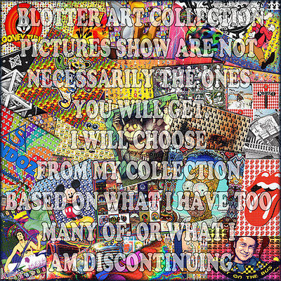 BLOTTER ART COLLECTION - 20 blotters for cheapest price on ebay - no drugs