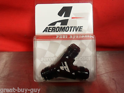 Aeromotive 15674 -8 AN to DUAL -8 AN  BILLET Y FITTING