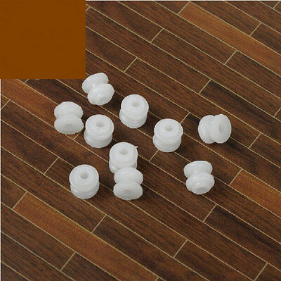 20pcs Plastic Sheave Belt Pulley 6mm White Small 2mm Hole Timing Pulley for DIY