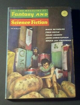 FANTASY & SCIENCE FICTION Magazine - March 1967 Vintage Pulp Sci-Fi ISAAC ASIMOV