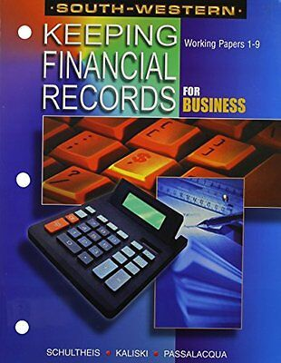 NEW Keeping Financial Records for Business - Working Papers: Chapters 1-9