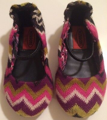 Girls Missoni Target Knit Zig Zag Ballet Flats Shoes Toddler Baby Purple NWT
