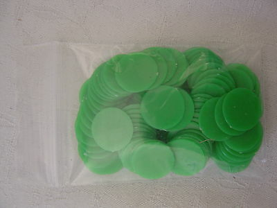 100 Counters, 15mm diameter, Tiddlywinks / Board Games, New/ Red / Green & mixed