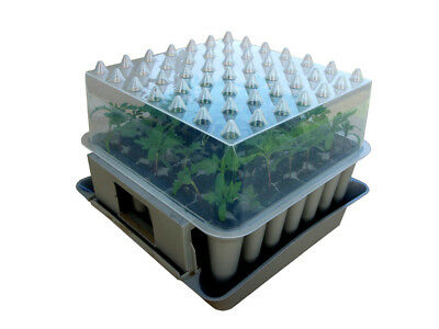 AGRALAN Compact Plug Plant Trainer Propagator Seed Sowing Seedling Potting Tray