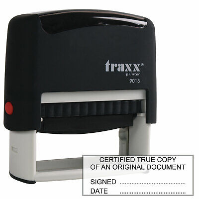 Traxx 9013 Certified True Copy Rubber Stamp for accountants, solicitors etc.