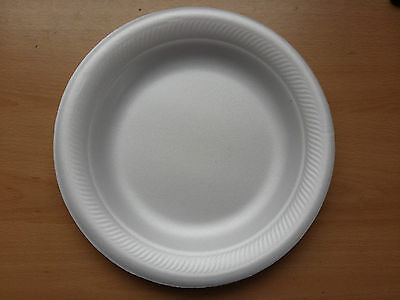 """18cm 7"""" Foam Polystyrene Plates Disposable Hot Cold Food 10 20 50 100 500 Cheap!"""