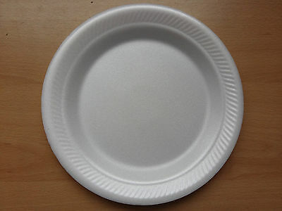 """23cm 9"""" Foam Polystyrene Plates Disposable Hot Cold Food 10 20 50 100 500 Cheap!"""