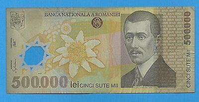 2000 Romania 500000 Lei Polymer Note P115a