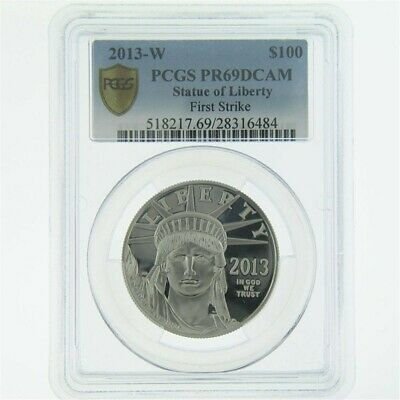 2013-W 1 oz Platinum Statue of Liberty Coin PCGS PR-69 DCAM FS