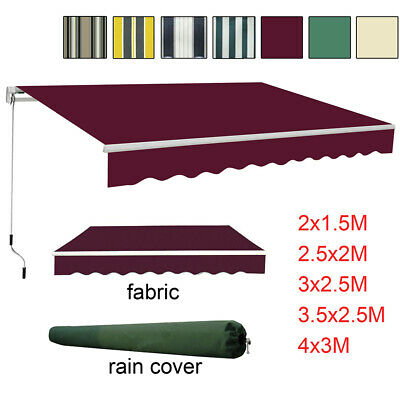 Garden Awning Patio Sun Shade Canopy Shelter With Replacement Fabric Rain Cover