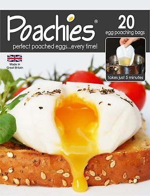 Poachies Egg Poaching Bags (20 bags) - Egg Poacher - Perfect Poached Eggs