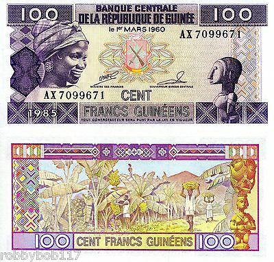 GUINEA 100 Francs Banknote World Paper UNC Currency Money p30a Note Africa BILL