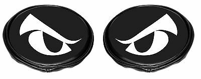 """EMPI Light Covers 6"""" Inch Round Black Vinyl with Eyes Pair  16-9148"""