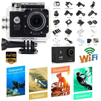 ACTION SPORT CAM WiFi GO FULL HD 1080p PRO CAMERA 12MP Videocamera Subacquea DV
