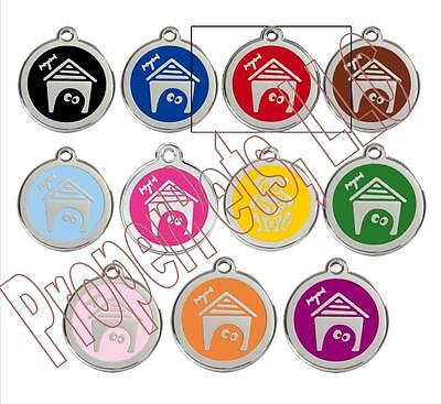 Red Dingo DOG HOUSE Engraved Dog ID Pet Tag/Charm BEST PET TAGS Guaranteed