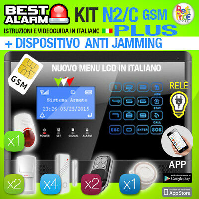 Antifurto Kit N2/c Plus Allarme Touch Casa Combinatore Gsm Wireless  Antijamming