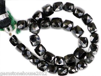 BS-0036 Black Spinel Natural Gemstone Box Faceted Beads 4 - 5 mm Strand