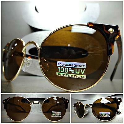 Men/'s or Women CLASSIC VINTAGE 60s RETRO Style SUN GLASSES Tortoise /& Gold Frame