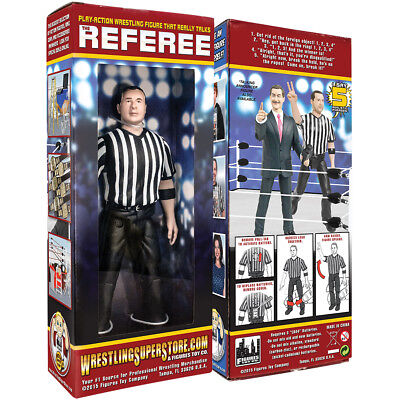 Three Counting & Talking Wrestling Referee Action Figure For WWE Action Figures