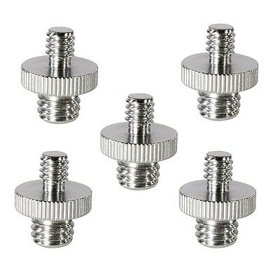 "5 Pieces 1/4"" Male to 3/8"" Male Threaded Screw Converter Adapter for Camera Cage"