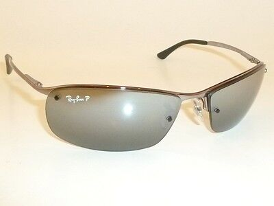 New RAY BAN  Sunglasses Gunmetal Frame  RB 3183 004/82  POLARIZED  Silver Mirror