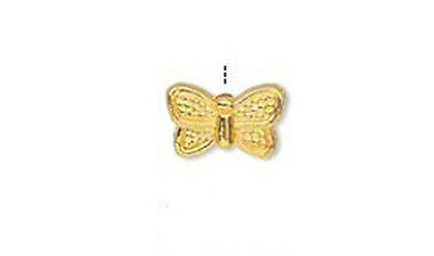 50 Gold Plated Metal Butterfly Beads 10MM
